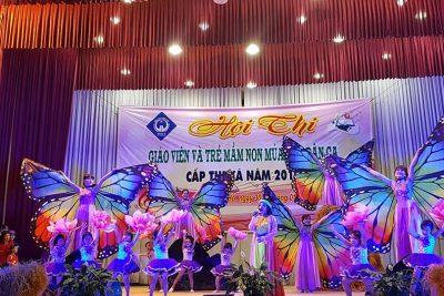 Hội thi giáo viên Mầm non và trẻ múa hát dân ca
