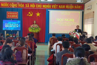 Uỷ ban nhân dân thị xã Buôn Hồ tổ chức thành công Hội nghị triển khai thực hiện Chương trình Giáo dục phổ thông 2018 đối với cấp tiểu học