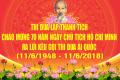 70 năm chủ tịch Hồ Chí Minh ra lời kêu gọi thi đua ái quốc