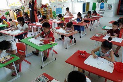 Hội thi vẽ tranh cho trẻ mầm non 5 tuổi lần thứ 1 năm học 2018-2019.
