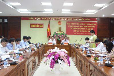 Đoàn công tác của Bộ Giáo dục và Đào tạo làm việc tại tỉnh Đắk Lắk