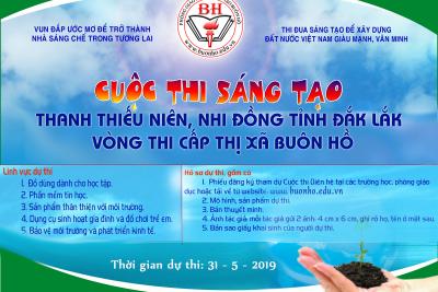 Triển khai cuộc thi Sáng tạo thanh thiếu niên nhi đồng tỉnh Đắk Lăk lần thứ 7 năm 2019